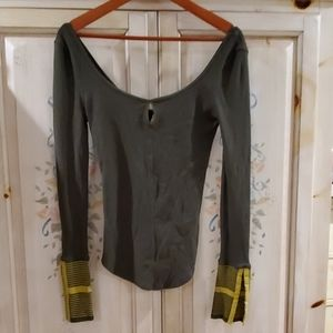 NWOT Free People Top Olive S